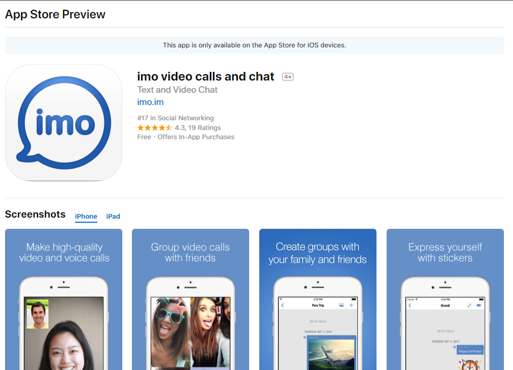 IMO for iPhone/ iOS / iPad (5,6,7 and all devices) Free Download - Guide