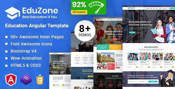 Best Education Angular 10 Template