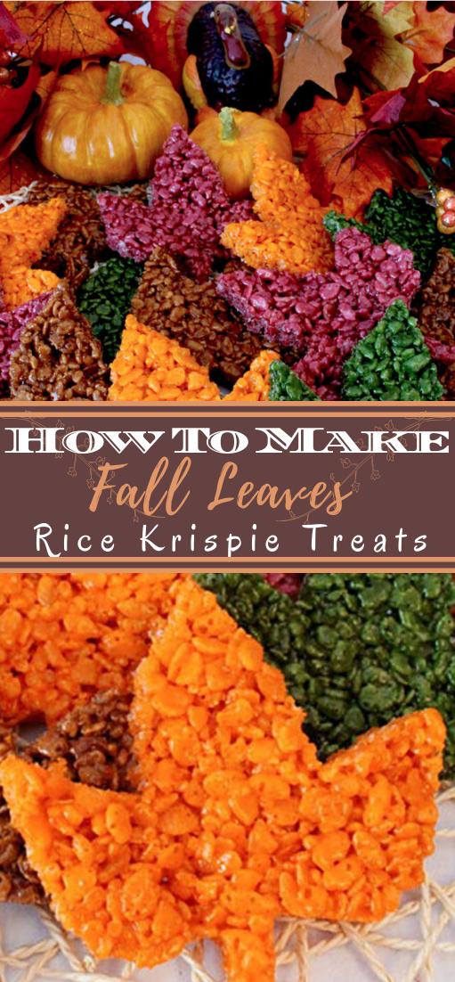 Fall Leaves Rice Krispie Treats #vegan #vegetarian #soup #breakfast #lunch
