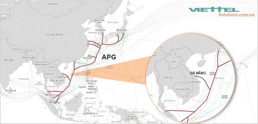 Hình 4 - Cáp quang biển APG (Asia Pacific Gateway)
