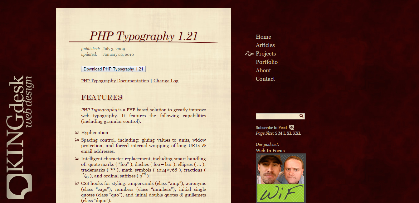 PHP Typography