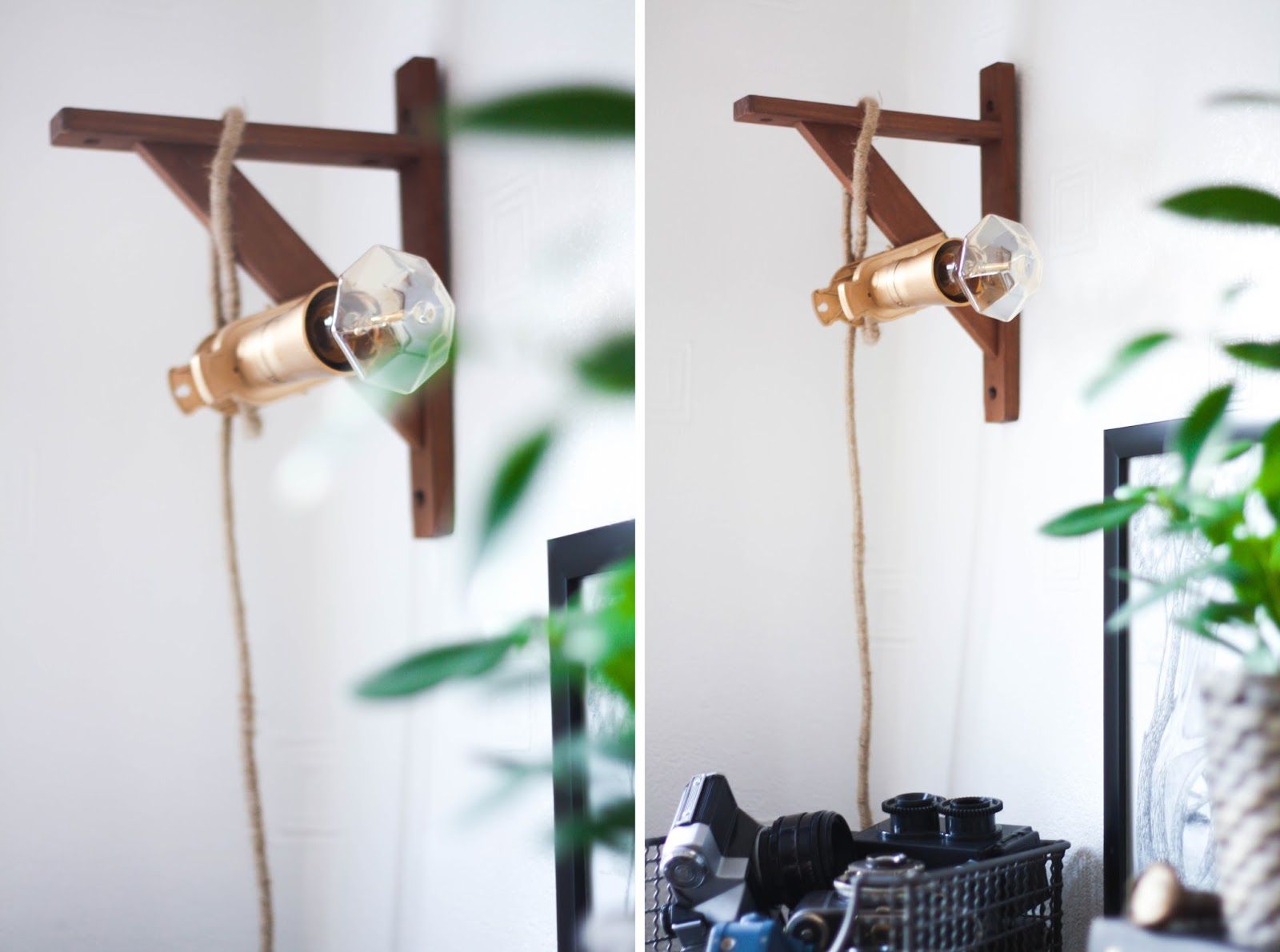 DIY Hanging cord lamp