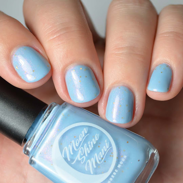 pale blue nail polish swatch