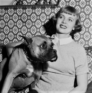Dorothy Abbott With Dog