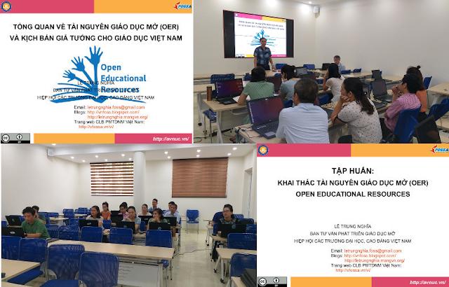 Khóa bồi dưỡng 'Thực hành khai thác tài nguyên giáo dục mở' ở trường Đại học Mở Hà Nội