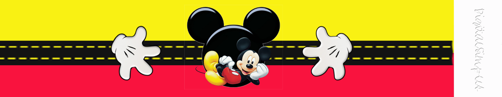 Mickey: You can use this Free Printable to make Labels, Napkin Rings or Book Marks.