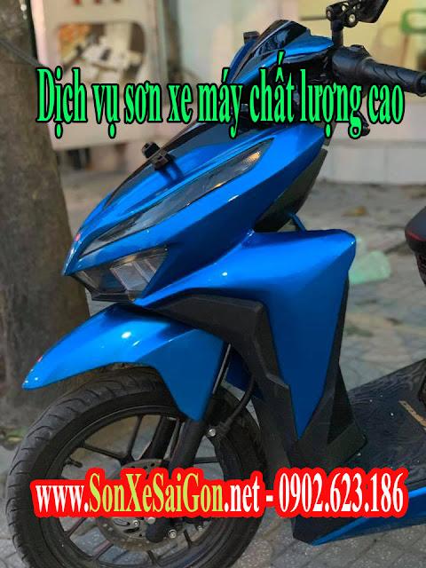 Mẫu Sơn xe máy Vario 150 màu xanh candy cực đẹp