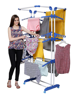 PARASNATH Prime Steel and Plastic Clothes Drying Stand to Dry Your Apparel, Intimates and Other Cloth