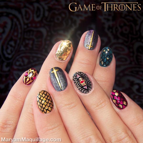 "Nail Art Game: Maryam Maquillage: ""Game Of Thrones"" Nail Art"