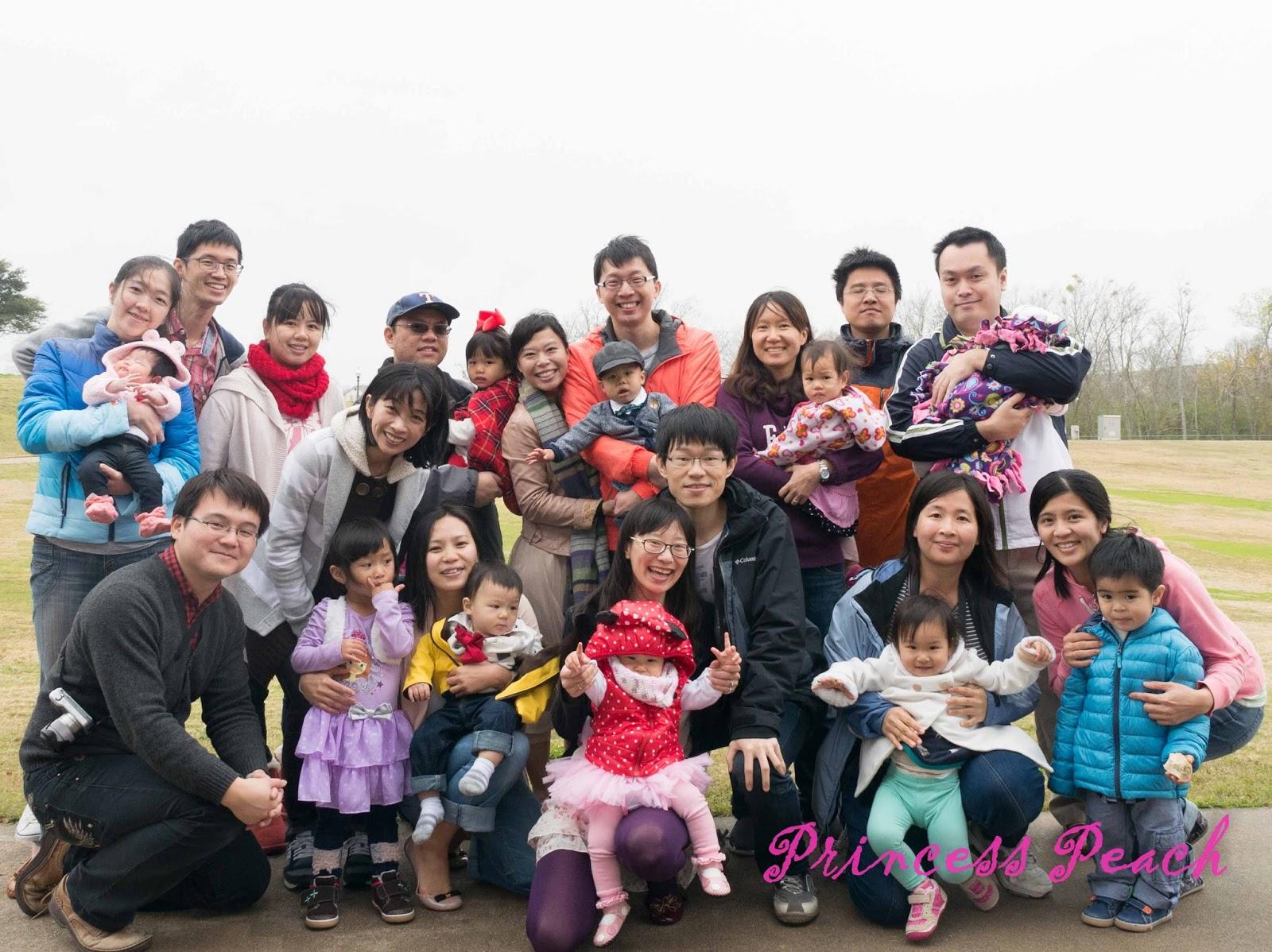 茉莉公園野餐周歲趴-前來參語的親友們