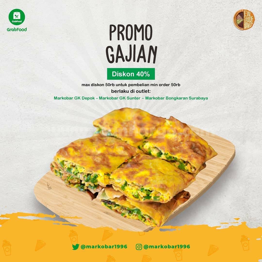 Promo Markobar Payday Spesial Gajian Diskon 40% melalui Grabfood