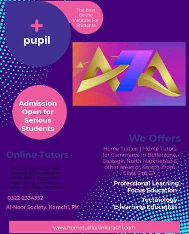 Abdullah Tutors Academy offering Home Tuition for Commerce in Bin Qasim Town, Steel Town, Karachi