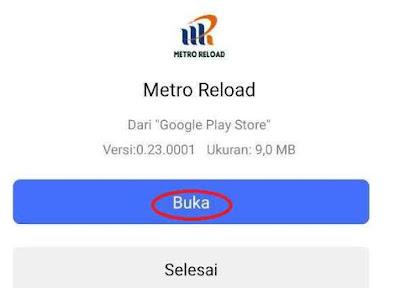 Buka Aplikasi Metro Reload Pulsa