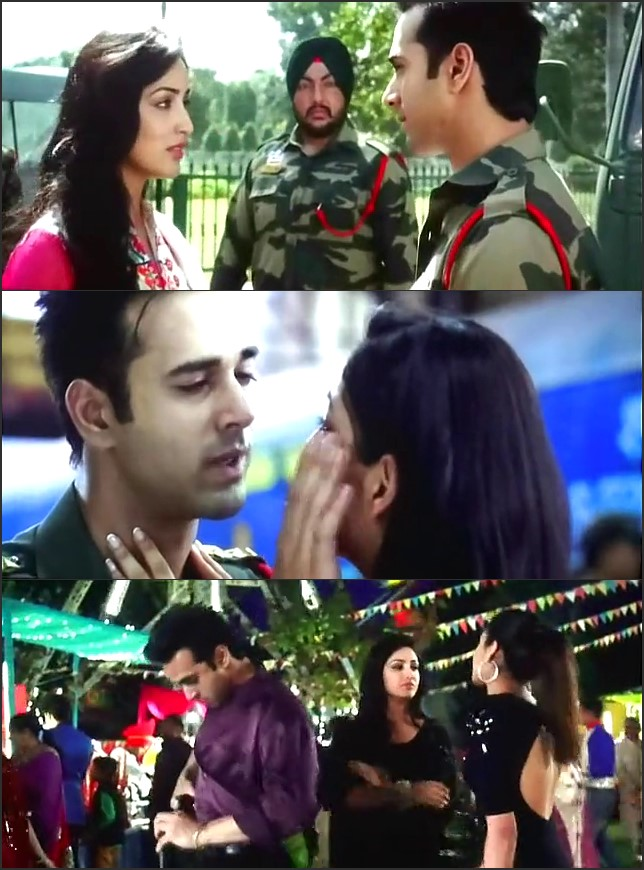 Screen Shot Of Junooniyat 2016 300MB DVDRip 480P Full Hindi Movie Watch Online Free Download