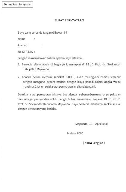 Pengadaan Pegawai BLUD Di RSUD Prof.dr.Sokandar Kabupaten Mojokerto