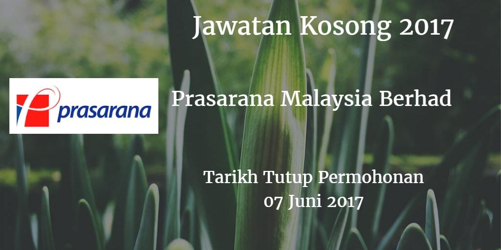 Jawatan Kosong Prasarana Malaysia Berhad 07 Juni 2017