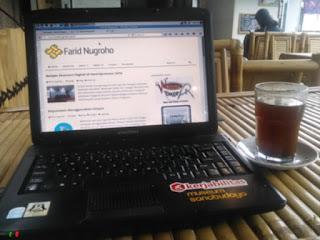 Ngeblog di kafe sahabat dengan layanan IndiHome