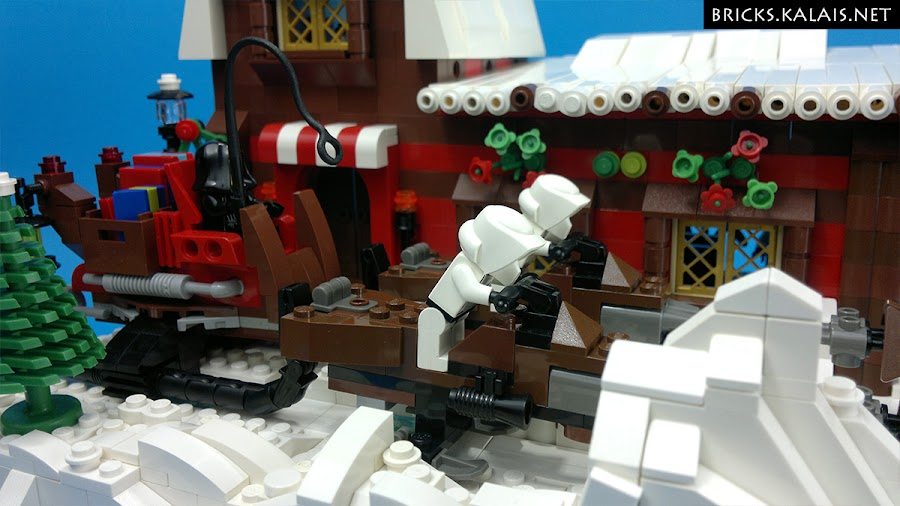 2. Close up on the Imperial 74-Z speeder bikes sled...
