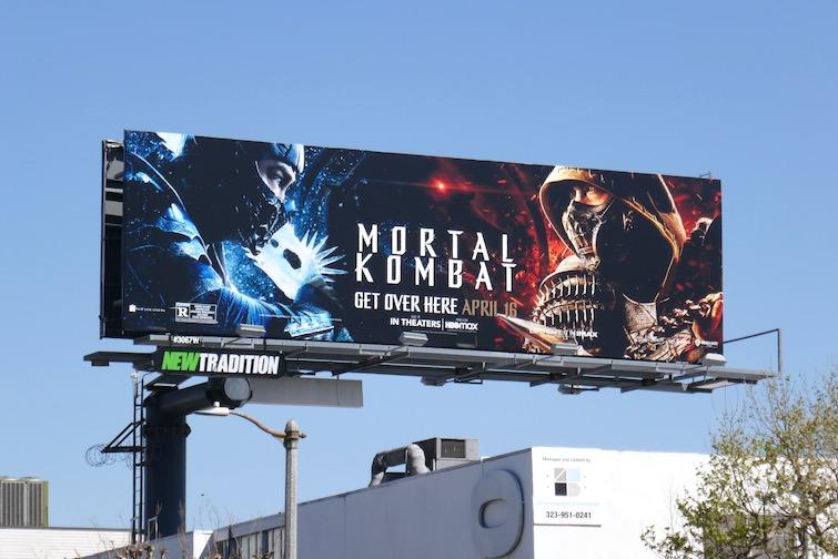 Mortal Kombat movie billboard