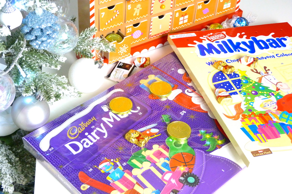 an image of Cadbury Dairy Milk and Milky Bar Advent Calendars 2017