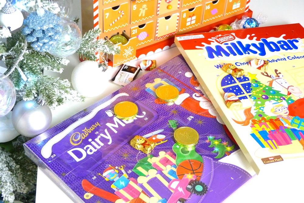 an image of Cadbury Dairy Milk and Milky Bar Advent Calendars 2017