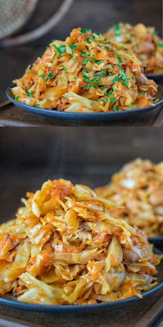 Succulent cabbage sauteed with tender chicken and vegetables. Just a few ingredients and about 15 minutes of active time make up this delicious dinner. This is my #1 Best Recipe yet!