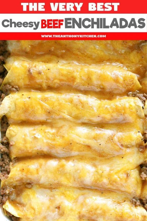 Tex-Mex Beef Enchiladas