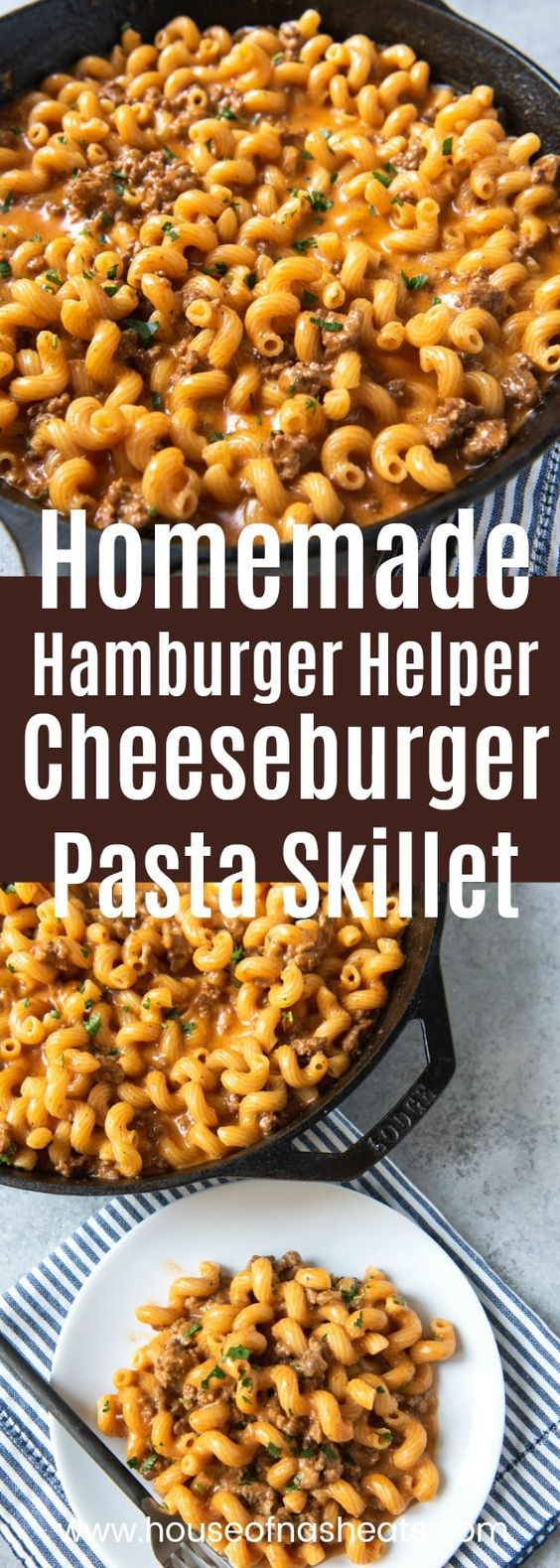 HOMEMADE HAMBURGER HELPER CHEESEBURGER PASTA SKILLET #recipes #pastarecipes #easypastarecipes #food #foodporn #healthy #yummy #instafood #foodie #delicious #dinner #breakfast #dessert #lunch #vegan #cake #eatclean #homemade #diet #healthyfood #cleaneating #foodstagram