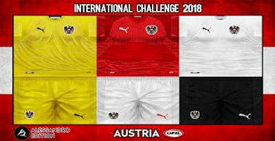 PES 6 Kits Austria National Team Season 2018/2019 by Alessandro