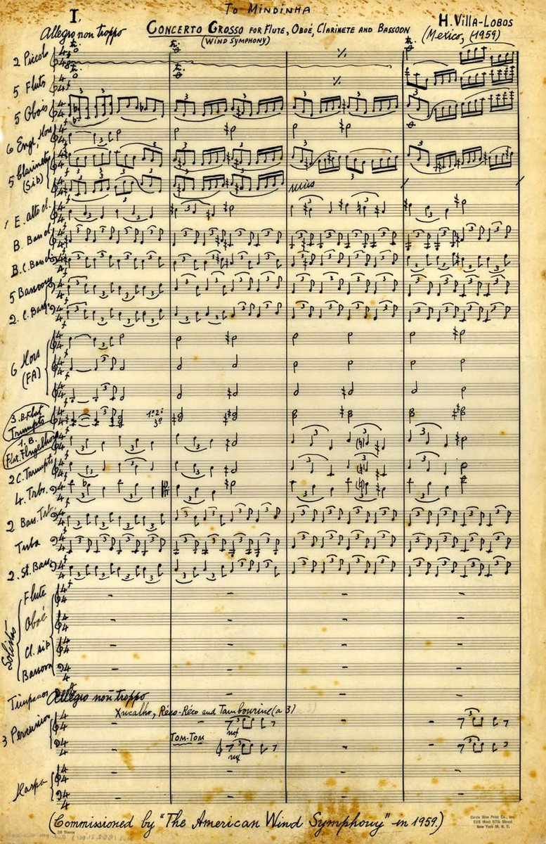 On Twitter I referred to these two works as Villa-Lobos's NAFTA music,  after Marcelo Rodolfo of the Museu Villa-Lobos tweeted that the Concerto  Grosso was ...