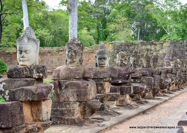 the guardian deities of Angkor Gates