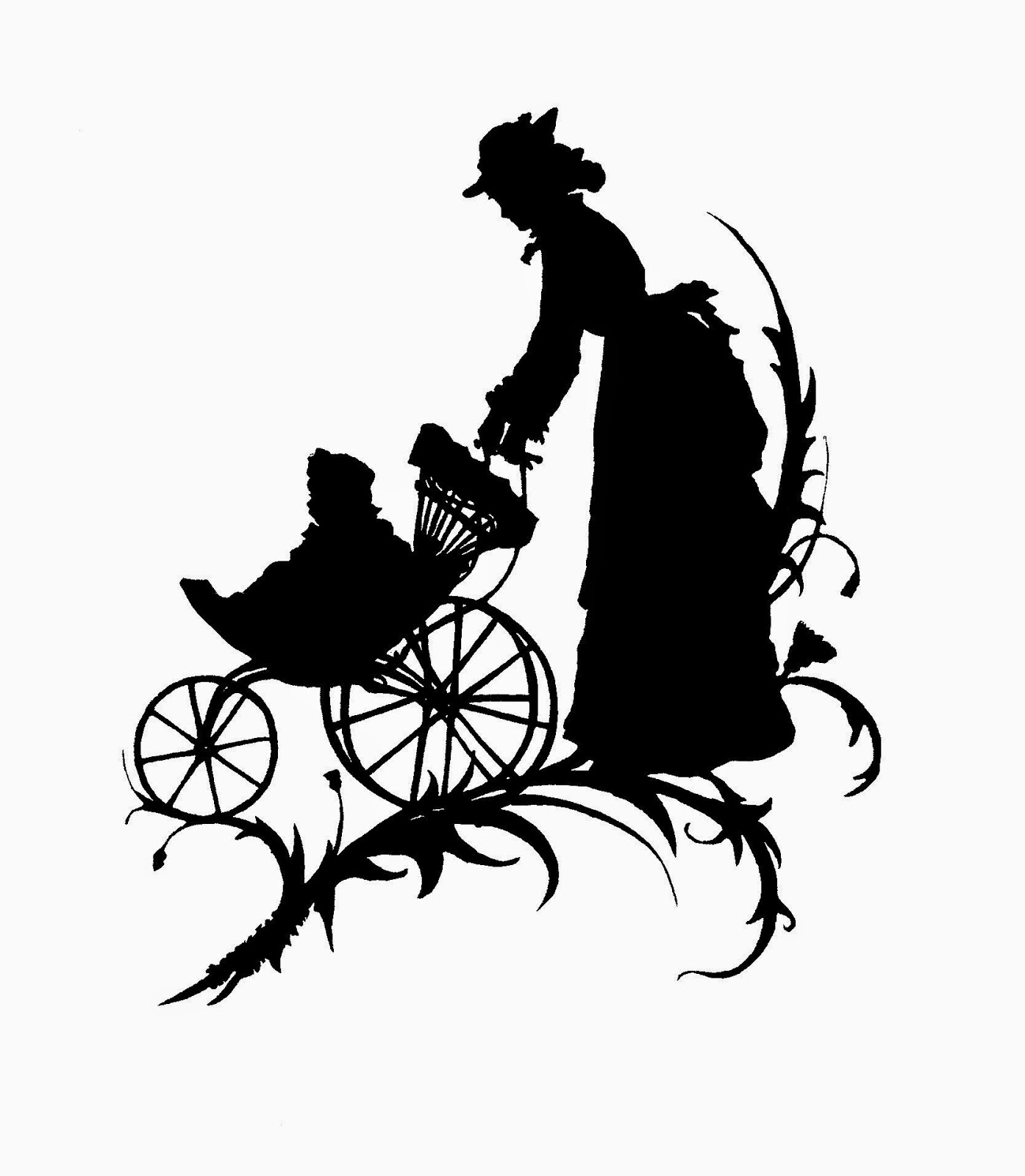 Digital Stamp Design Free Mother S Day Digital Stamp Silhouette Of Mother Pushing Baby In Carriage