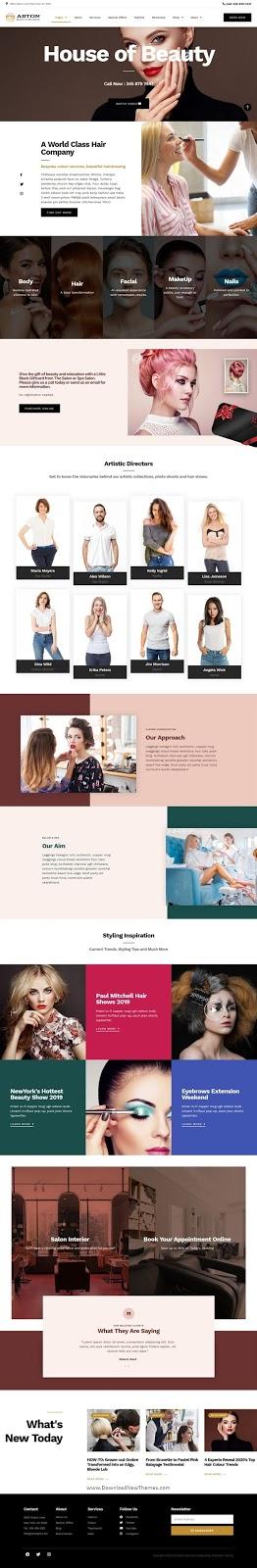 Beauty & Spa Salon Website Template