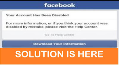 Solution! HOW TO OVERCOME 'FACEBOOK ACCOUNT DISABLING' PROBLEM?
