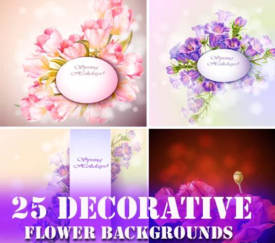 25 Decorative Flowers Backgrounds