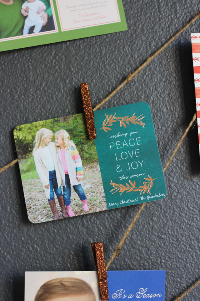 Love this simple idea to display holiday cards!