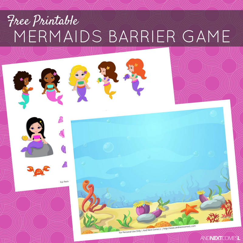graphic about Printable Mermaids called No cost Printable Mermaids Barrier Video game for Speech Treatment method