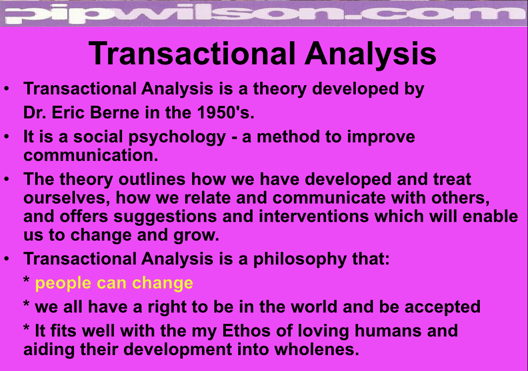 Transactional analysis and gestalt therapy