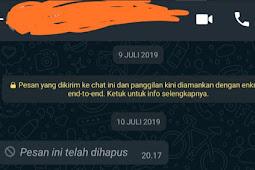 Cara Melihat chat wa yang telah Dihapus di Android
