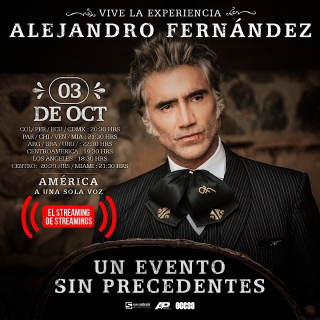 ALEJANDRO FERNÁNDEZ  El máximo exponente de la música mexicana.