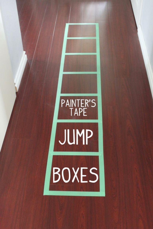 indoor activities for kids - jump box activity