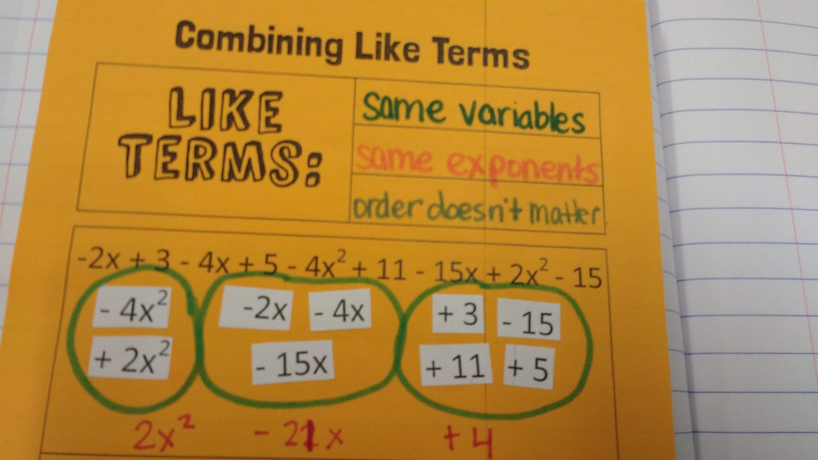 Math Love Combining Like Terms And The Distributive
