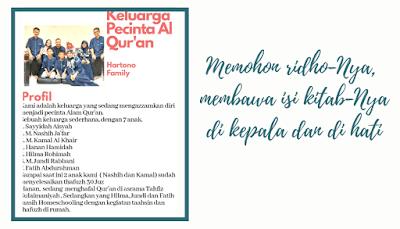 Keluarga cinta  Al Qur'an