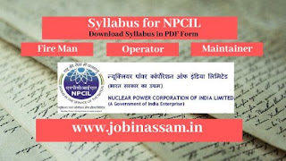 Syllabus for NPCIL