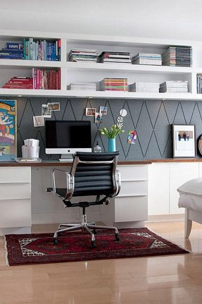 White Small Home Office Ideas