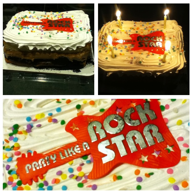 yellow rock star cake