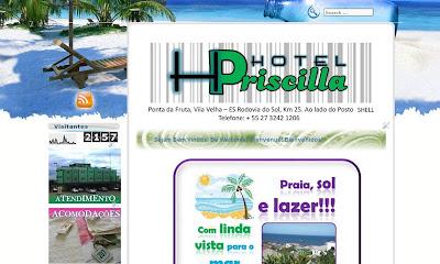 Criação de Site para Hotel e Pousada Turismo Vila Velha ES