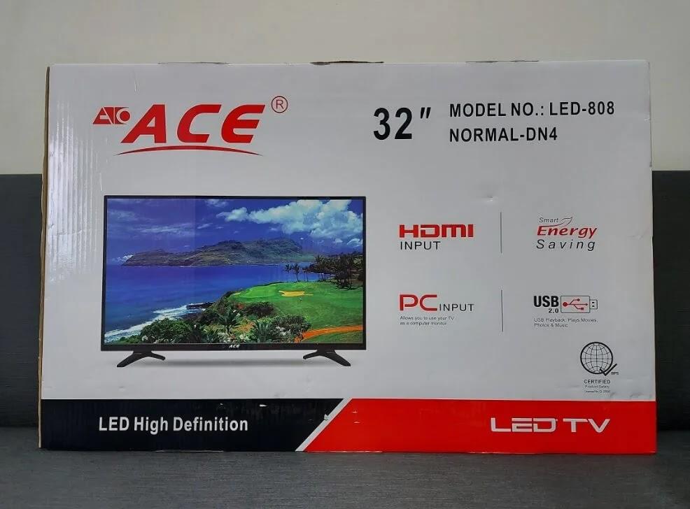 ACE 32-Inch Slim LED TV (LED-808 DN4) Box