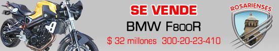 Vendo Moto BMW F800R por 32 millones de pesos en Villa del Rosario. www.rosarienses.com
