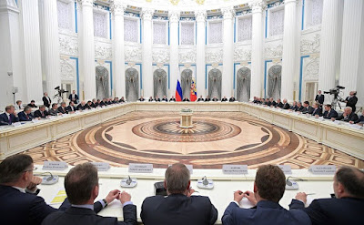 Meeting with representatives of the Russian business community in Kremlin.